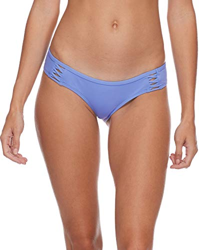 Eidon women's Rebel Bikini Bottom Swimsuit with Front Strappy Detail, Flavors Periwinkle, Large