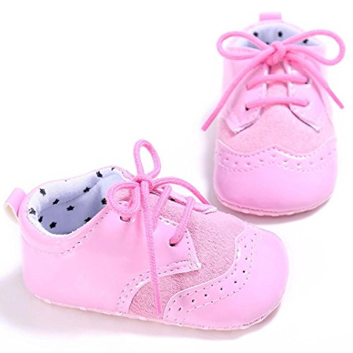 Zapatos de bebé, Switchali Recién nacido bebe niña primeros pasos verano Niño Cuna Suela blanda Antideslizante princesa Zapatillas niñas vestir floral casual Calzado Rosado
