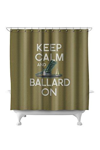 Keep Calm and Ballard On (71x74 Polyester Shower Curtain) ()