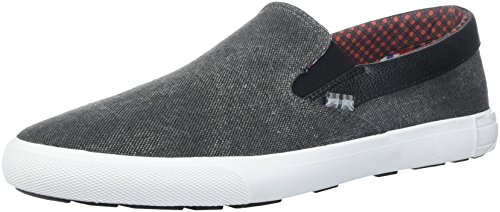 Ben Sherman Men's Pete Slip On Sneaker, Black, 10 M US (Ben Sherman Casual Shoes)