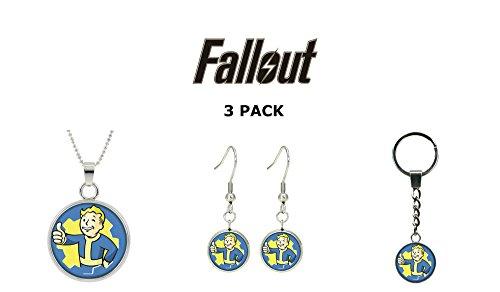 Fallout Logo 3 Pack Set Character Cartoon Superhero