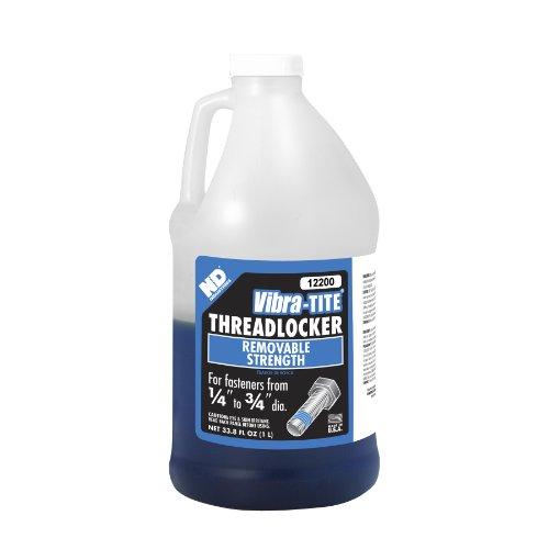 Vibra-TITE 122 Oil Tolerant Removable Anaerobic Threadlocker, 1 liter Jug, Blue