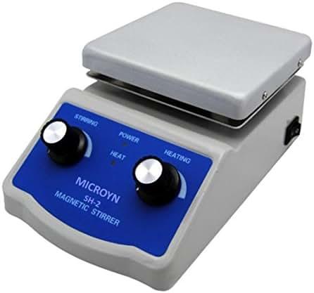 Analog Laboratory Magnetic Stirrer Hotplate, 12cm x 12cm (~5x5inch) Panel, 380°C, 100-1600rpm, 110V (SH-2)