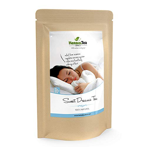 Best Sleepytime Tea for Weight Loss - Free Teatox eBook - Helps with Weight Loss - Detox Diet - Sleep & Relaxation - #1 Night Time Tea - 30 Tea Bags for Sleepytime - Enjoy Our Sweet Dreams Tea. (Best Tea For Sleep And Relaxation)