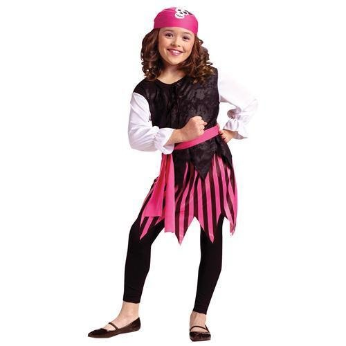 Fun World Caribbean Pirate Girl Child Costume Size 12-14