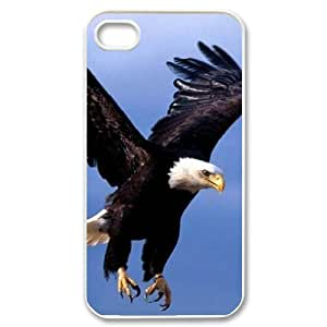Bald Eagle Unique Design Cover Case for Iphone 4,4S,custom case cover ygtg578964