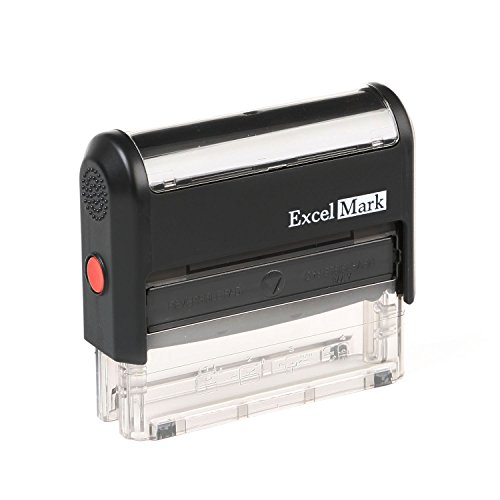 (ExcelMark Custom Self Inking Rubber Stamp - Long and Narrow - 3 Lines (42A1776))