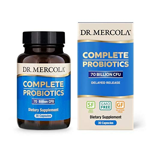 Dr. Mercola, Complete Probiotics (70 Billion CFU) 30 Servings (30 Capsules), Helps Support Digestive Health, Non GMO, Soy Free, Gluten Free by Dr. Mercola