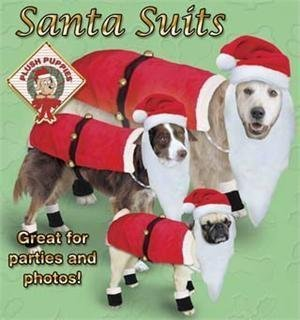 Kyjen Outward Hound Dog Santa Suit w/Boots & Hat w/Beard, Large
