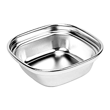 Outdoor BBQ Dip Dish Seasoning Condiment Plate, Sub-Grid Polished Stainless Steel Flavored Sauce Vinegar Barbecue Sauce Bowl Compartment Sauce Sushi Seasoning Dipping Plates Shantan