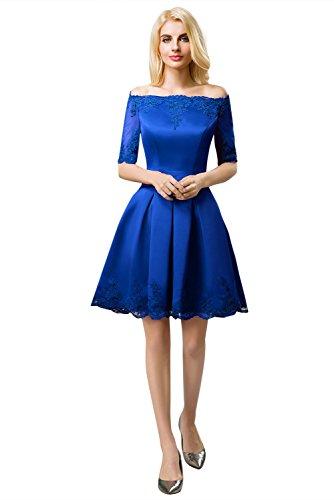 Huifany Königsblau rot Kleid Linie Damen Small A burgunderfarben rA0prOw