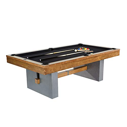Barrington Urban Professional Billiard Pool Table, Full Set with Accessories, Standard 8′ – Modern and Stylish Wooden Playing Tables with Balls, Cues, Rack – Billiards Game Complete Sets