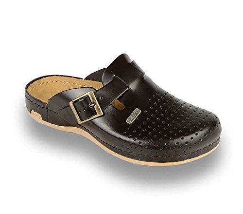 Zuecos De Zapatillas Cuero Para Marrón Leon Zapatos 700 Hombre zqwUI5
