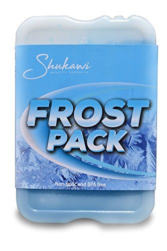 Cold Fresh Slim Ice Packs - Thin Long Lasting Reusable Ice Packs, Great Food Saver used in Lunch Boxes & Coolers Storing Food, Keeps Your Lunch Chilled, and Tasty (Set of 4) Frost Packs by Shukawi Quality Products (Image #2)
