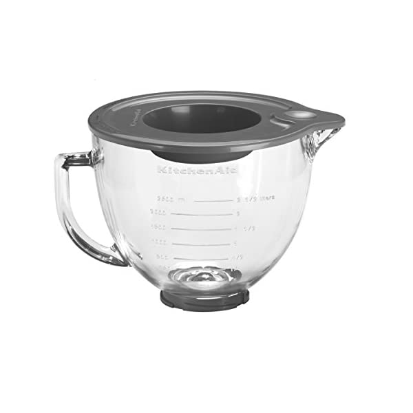 KitchenAid 5K5GB Glass Bowl Optional Accessory for Stand Mixers 4.8 Litre