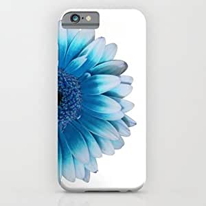 Society6 - Colored Summer ~ Blue Gerbera iPhone 6 Case by Steffi ~ FindsFUNDSTUECKE