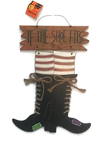 Cute Frat Halloween Costumes (Wooden Halloween Witch If The Shoe Fits Sign Decoration)