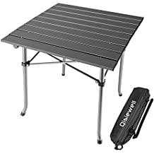 Qisiewell Camping Table Aluminum Outdoor Folding Beach Table Compact Lightweight Portable Small Picnic Table for Indoor and Outdoor Camping Beach Swimming Hiking BBQ Picnic Fishing with Storage Bag