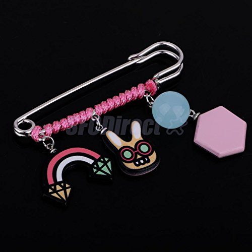 Hijab Pin Rabbit Cube Safety Pin Suit Fashion Scarves Sweater Collar (Rabbit Safety Collar)
