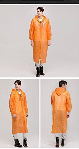 CTKcom 4Pcs Disposable Raincoats,Portable Reusable with Hoods and Sleeves Rain Coats Waterproof Lightweight Rain Coat Perfect for Camping Hiking Sport Outdoor Activities For Men and Women (Orange) by CTKcom (Image #5)