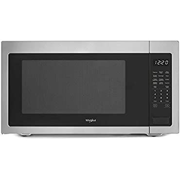 Whirlpool WMC50522HZ 2.2 Cu. Ft. Fingerprint-Resistance Stainless Steel Countertop Microwave