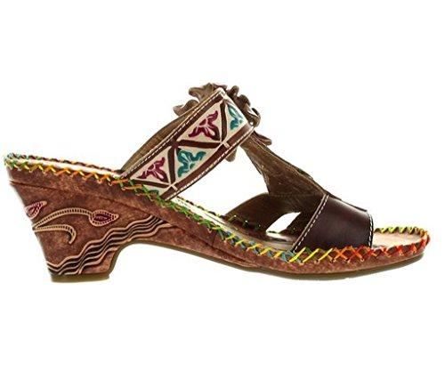 Corkys Kvinners Elite Navajo Brune Sandaler Multi ...
