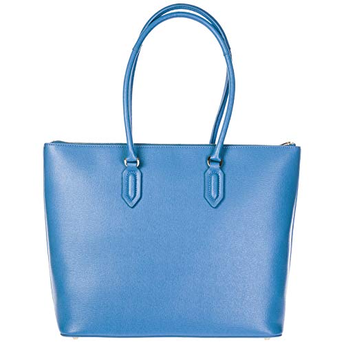 spalla a in FURLA nuova shopping pelle borsa blu donna Pin 1wxggTUt