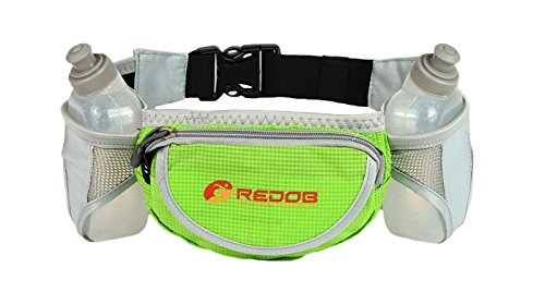 Durable Handy Running Hydration Belt ~ With 2 bottels included 10 Oz Each ~ Perfect Fuel Belt  ~ Runners Waist Pack by (10 Ounce Each Pack)