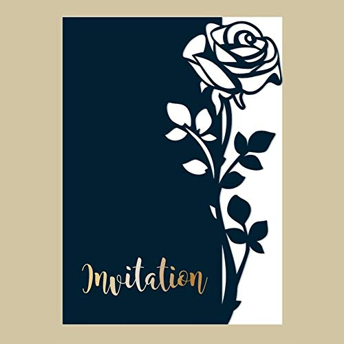 es,Rose Pattern Embossing Cutting Dies Tool Stencil Template Mold Card Making Scrapbook Album Paper Card Craft,Metal ()