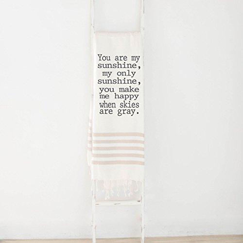 Throw Blanket - You Are My Sunshine, present, housewarming gift, decorative blanket, cozy