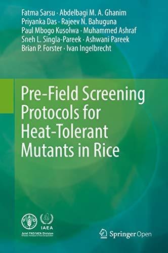 Pre-Field Screening Protocols for Heat-Tolerant Mutants in Rice