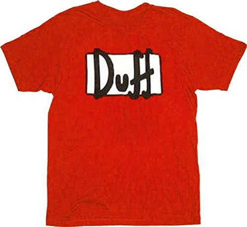The Simpsons Duff Beer Red T-shirt (Duff Simpsons Beer T-shirt)