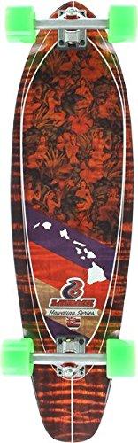 Layback Longboards Hawaiian Aloha Longboard Complete Skateboard - 9.75