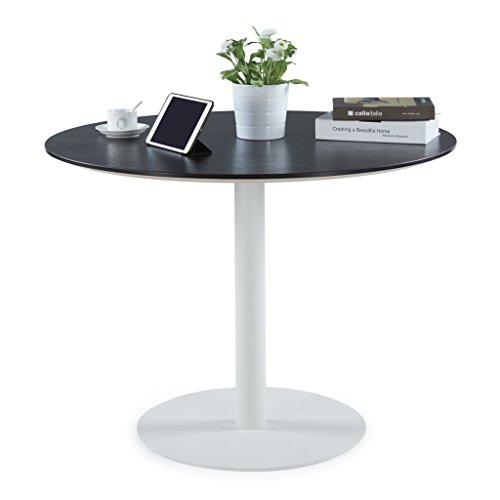 (Sunon Round Conference Table,Small Dining Table with White Pedestal Base (39.9