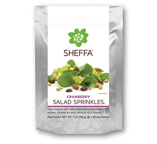Sheffa Salad Mix Sprinkles Toppers, Cranberry, 7 oz (3 Pack) HEALTHY & TASTY | Vegan | Kosher | Gluten Free | Non GMO | Low Sodium | for busy people - OFFICE/ WORK ()