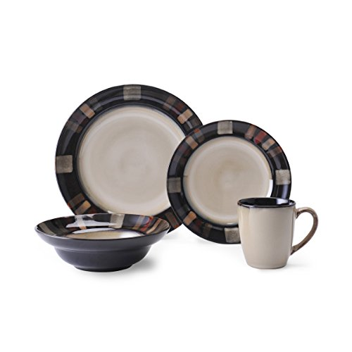 Pfaltzgraff Tahoe 16-Piece Stoneware Dinnerware Set, Service for 4