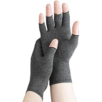 Serenily Compression Gloves - Arthritis Gloves - for Rheumatoid Arthritis & Osteoarthritis. Carpal Tunnel Gloves for Arthritis Pain Relief. Breathable, Fingerless Gloves for Women & Men (L)