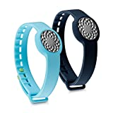 kwmobile 2in1 set: 2x sport spare bracelet for Jawbone UP Move in dark blue light blue Inner dimensions: approx. 15,5 - 23 cm - silicone bracelet with closure without tracker