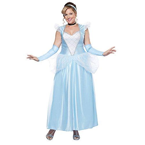Plus Size Fairy Dresses (California Costumes Women's Plus-Size Classic Cinderella Fairytale Princess Long Dress Gown Plus, Blue/White, XX-Large)