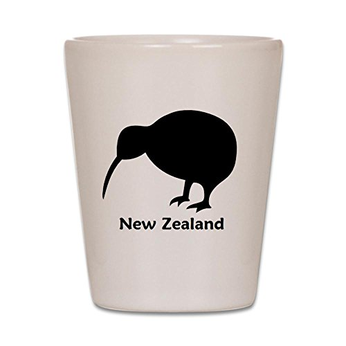 CafePress - Kiwi - NZ Text - Shot Glass, Unique and Funny Shot - Glasses Nz