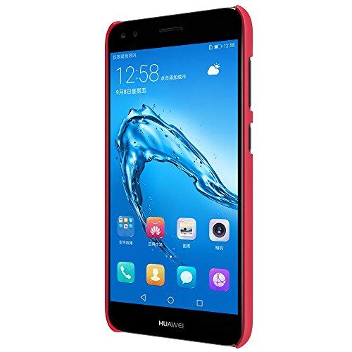 Caja del teléfono Huawei Enjoy 7 Funda Espalda Cover Material de protección del medio ambiente,Ultra delgada,Estilo Smartphone Funda Carcasa Case Cover Caso para Huawei Enjoy 7 (Negro) Rojo