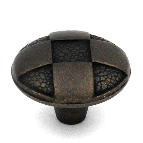 Belwith Windover Antique Checkered Knob, 1-1/4 In. Diameter