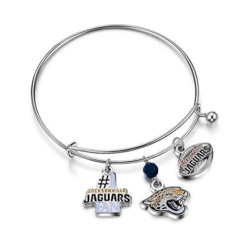 - NFL Jacksonville Jaguars Three Charm Logo Bracelet