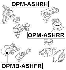 MOTORLAGER RECHTS OPM-ASHRH