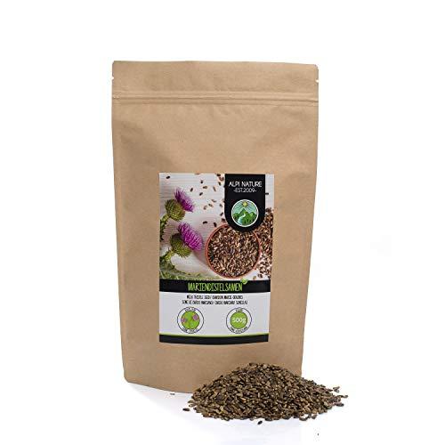 Semillas de cardo mariano (500g), 100% naturales, suavemente secadas, veganas