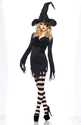 Lulutus Halloween Witch Party Cosplay Large Black Witch Hat for Women Costume Accessory by Lulutus (Image #5)