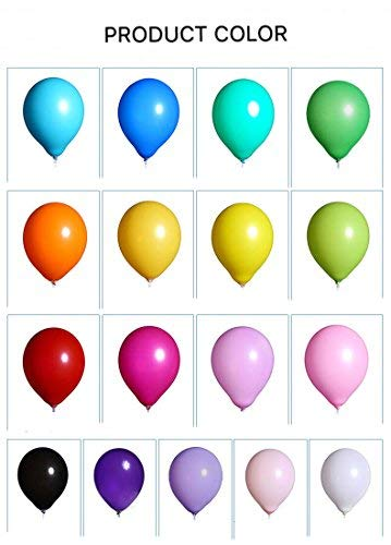 XNX Balloons Assorted Color 12 inch 100 Pcs Helium Quality Latex for Party Decoration (Multi-Colour)