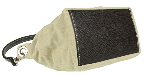 Shoulder New Leather HandBags Girly Suede Beige Bag Tote Handbag Genuine IqxYwwp5