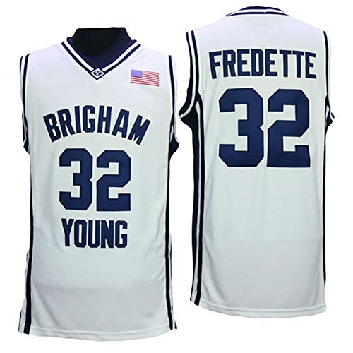 BYU Brigham Young University Cougars Jimmer Fredette 32 College Basketball Jersey White (Basketball College Cougars)