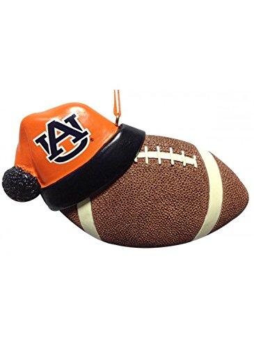 Auburn Tigers Santa Hat with Football Ornament 4.25